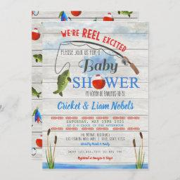 Reel Excited Fishing Baby Boy Shower Invitation