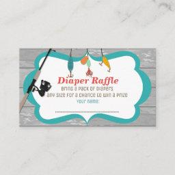 Reel Excited Fishing Matching Diaper Raffle Invitationss