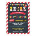 Retro Carnival Circus Animals Baby Shower Invite