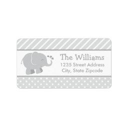 Return Address Labels | Elephant Gray White