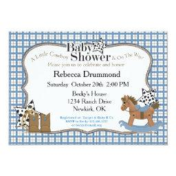 Rocking Horse Cowboy Baby Shower