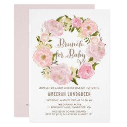 Romantic Peonies Wreath Baby Shower Brunch