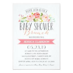 Baby Shower Brunch Invitations BabyShowerInvitations4U