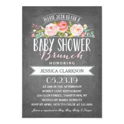 Rose Banner Brunch | Baby Shower