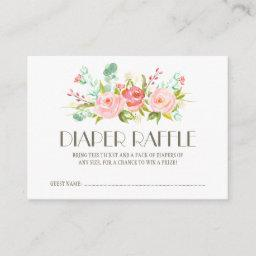 Rose Garden Baby Diaper Raffle Ticket Enclosure