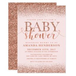 Rose Gold Fox Glitter Baby Shower