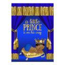 Royal Blue Ethnic Prince Baby Shower Invitationss