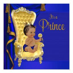Royal Blue Fancy Ethnic Prince Baby Shower