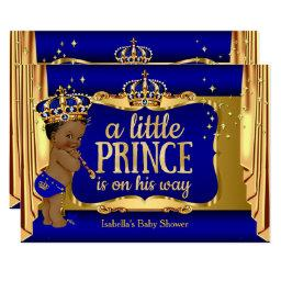 Royal Blue Gold Boy Prince Baby Shower Ethnic