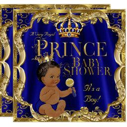 Royal Blue Gold Crown Prince  Ethnic