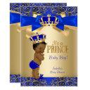 Royal Blue Gold Damask Prince Baby Shower Ethnic