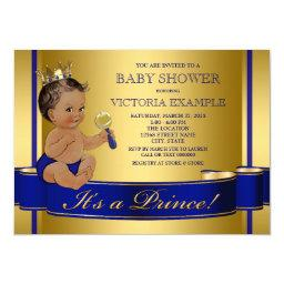 Royal Blue Gold Ethnic Prince Baby Shower