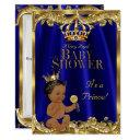 Royal Blue Navy Gold Prince Baby Shower Ethnic