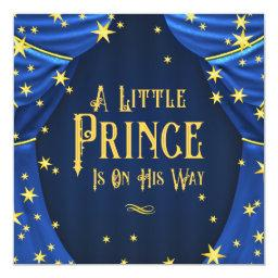 Royal Blue Prince Boy Baby Shower Invitations