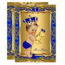 Royal Blue Prince Crown Baby Shower Bear Brunette
