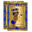 Royal Blue Prince Crown Baby Shower Bear Ethnic