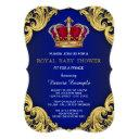 Royal Fancy Prince Baby Shower Invitation