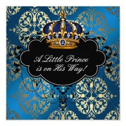Royal Navy Blue Gold Prince Baby Boy Shower