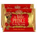 Royal Red Gold Boy Prince Baby Shower Ethnic Invitation