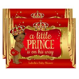 Royal Red Gold Boy Prince Baby Shower Ethnic