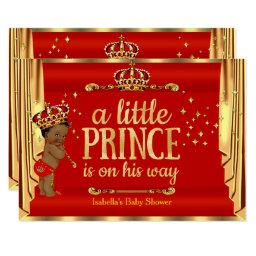 Royal Red Gold Drapes Prince Baby Shower Ethnic