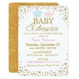 Royal Twins Gold Glitter Sprinkle Baby Shower