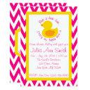 Rub-a-dub Baby Shower Invitation - Pink