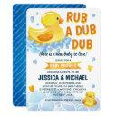 Rub A Dub Dub Rubber Duck Baby Shower Invitation