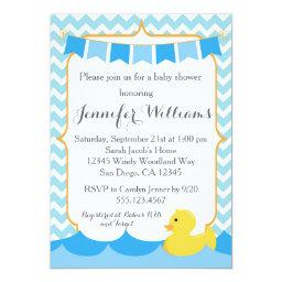 Rubber Duck Ducky Baby Shower Invitation