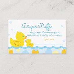 Rubber Ducky Baby Shower Diaper Raffle Ticket Enclosure Card