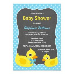 Rubber Ducky Baby Shower  Blue & Yellow