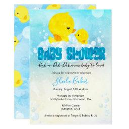 Rubber Ducky Baby Shower Invitation | Duckie Bath