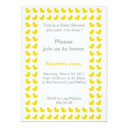Rubber Ducky  For Baby Shower Yellow