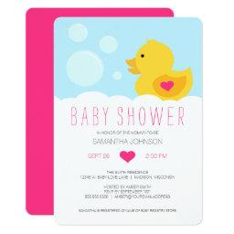 Rubber Ducky Pink Girl Baby Shower