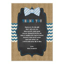 Rustic Boy Baby shower poem thank you note