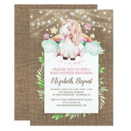 Rustic Burlap and Magical Unicorn