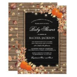 Rustic Country Autumn Fall Baby Shower