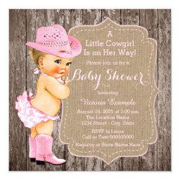 Rustic Cowgirl Baby Shower