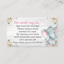 Rustic Elephant Baby Shower Book Request