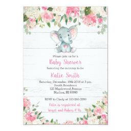 Rustic Elephant Baby Shower  for a Girl