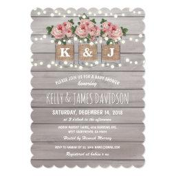 Rustic Floral Couple Baby Shower