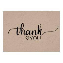 Rustic Kraft Calligraphy Thank You
