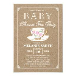 Rustic Modern Tea Party   Baby Shower