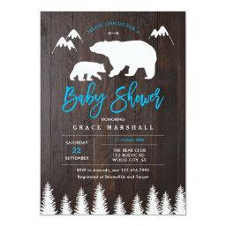 Rustic Mom and Baby Bear Baby Shower