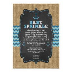 Rustic Nautical baby sprinkle