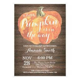 Rustic Pumpkin Fall  Invitation