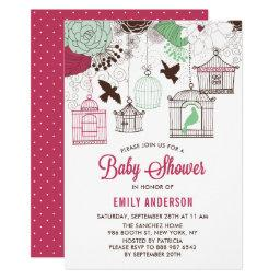 Rustic Red & Green Bird Cages Floral
