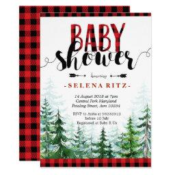 Rustic Red Plaid Boy Baby Shower