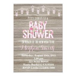 Rustic Shabby Chic Baby Shower