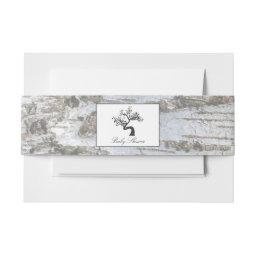 Rustic Silver Birch Tree Baby Shower  Belly Band